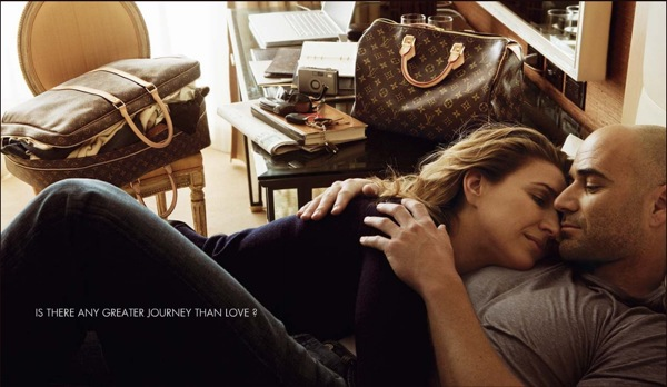 Graf and Agassi in Louis Vuitton ad/photo Annie Liebowitz