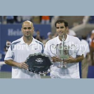 With friend and rival Pete Sampras